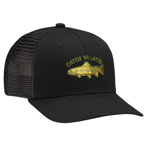 Coal The Tall Tales Low Profile Trucker Hat Black Fishing pure board shop