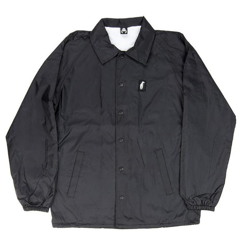 Crab Grab Classic Coaches Jacket Black - Pure Boardshop
