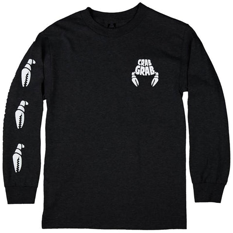 Crab Grab Claw Sleeve Long Sleeve T-Shirt Black Crab Grab 2018-2019 pure board shop