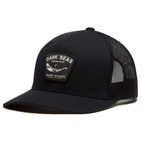 Dark Seas Black Tip Trucker Hat Black Pure Board Shop