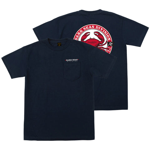 Dark Seas Chesapeake Pocket T Shirt Dusty Navy 304900022_DNV_2 pure board shop