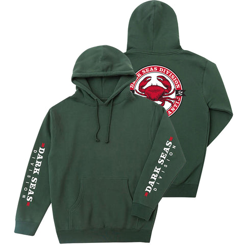 Dark Seas Chesapeake Pullover Hoodie Dark Green 301100101_GRN pure board shop