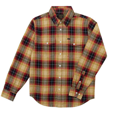 Dark Seas Longshoreman Flannel Shirt Khaki 311600065_KHA pure board shop