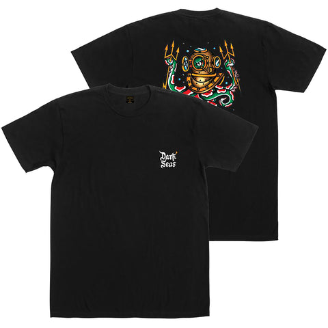 Dark Seas Man At Arms T Shirt Black 304400274_BLK pure board shop