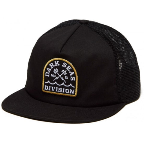 Dark Seas Talbert Trucker Hat Black Pure Board Shop