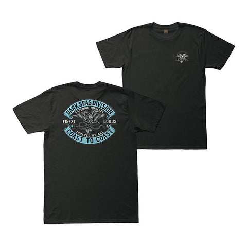 Dark Seas Trusted Premium T-Shirt Black pure board shop