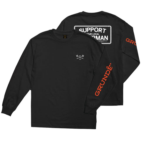 Dark Seas Dark Seas X Grundens Support Long Sleeve T-Shirt Pure Board Shop