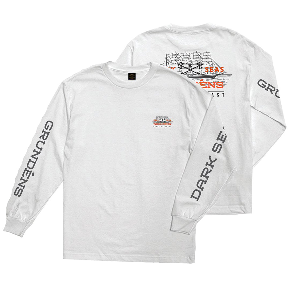 Dark Seas X Grundens Surface Waves Long Sleeve T-Shirt