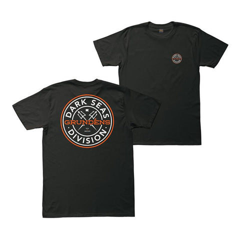 Darks Seas X Grundens Timeless Premium T-Shirt black pure board shop