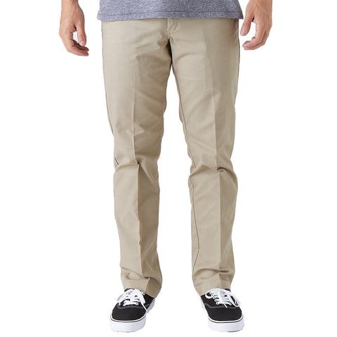 Dickies 67 Flex Slim Fit Straight Leg Pants Desert Sand WP894DS pure board shop