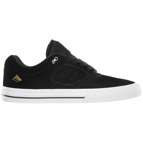 Emerica Reynolds 3 G6 Vulc Skate Shoe Black/White/Gold andrew reynolds skate shoe pure board shop