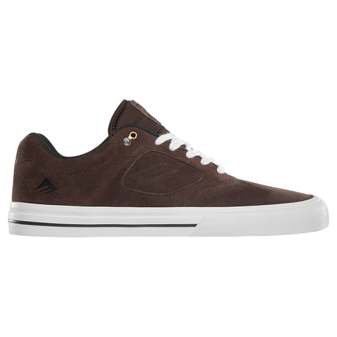 Emerica Reynolds 3 G6 Vulc Skate Shoe Brown/White andrew reynolds skate shoe pure board shop