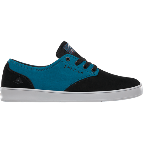 Emerica X Toy Machine Laced Skate Shoe Black Turquoise 6107000158 522 Pure Board Shop