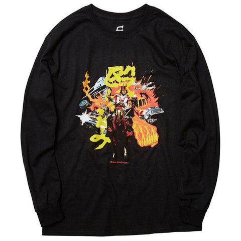 Evisen Charge Long Sleeve T-Shirt Black Evisen Spring 2018 pure board shop