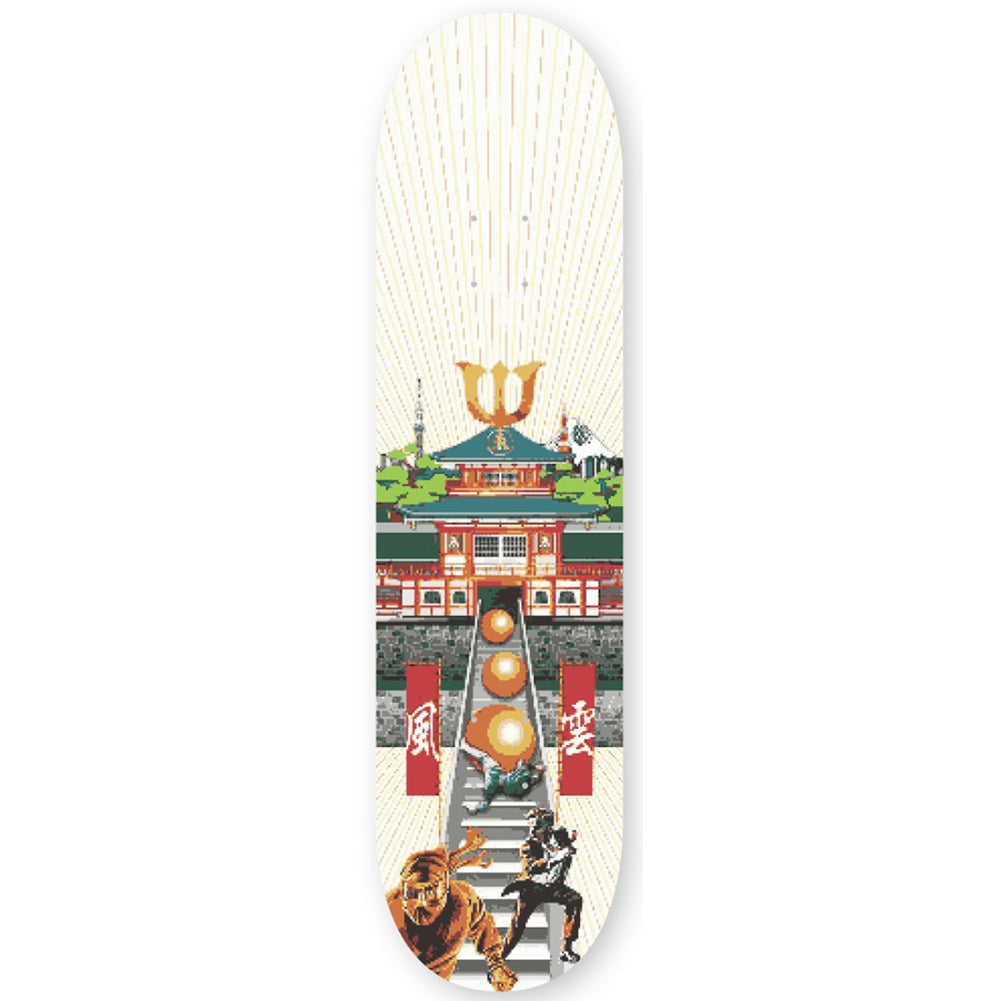Evisen Takeshis Castle Skateboard Deck 8.25
