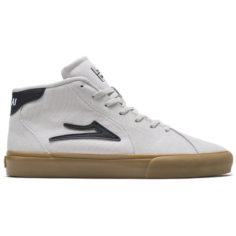 Lakai Flaco 2 Mid Skate Shoes White Gum pure board shop