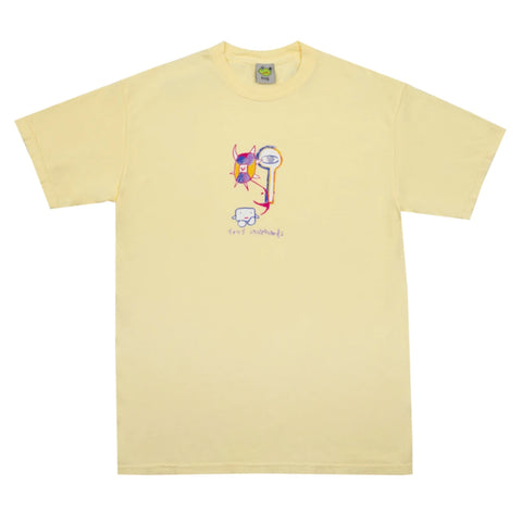 Frog Tree Spirit T Shirt Light Yellow Frog Skateboards pure board shop