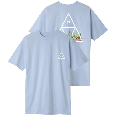 HUF Botanical Garden Triple Triangle T Shirt Light Blue TS01112_LBLUE_01 pure board shop