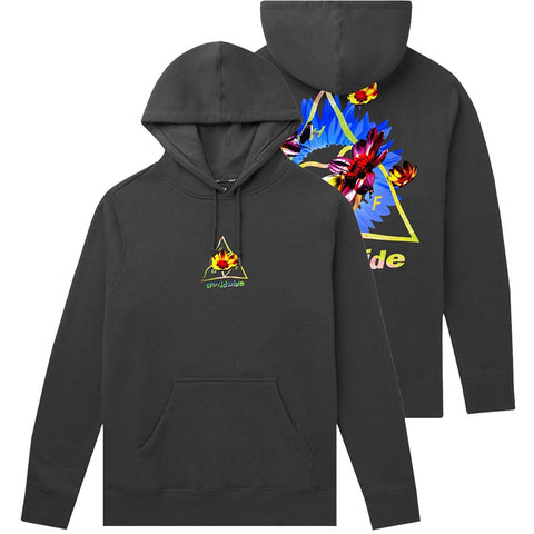 HUF Come Down Triple Triangle Pullover Hoodie Black PF00277 pure board shop