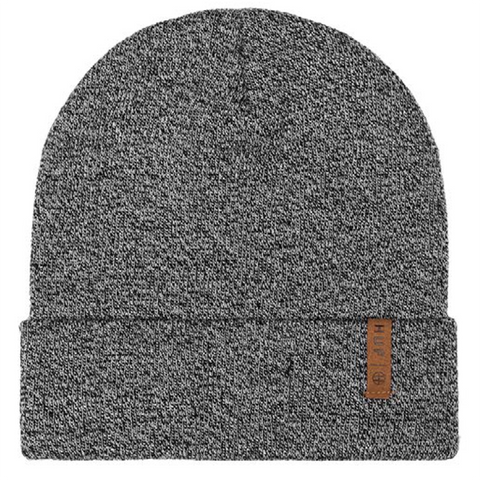 HUF Mixed Yarn Beanie Black - Pure Boardshop