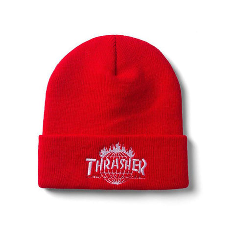 HUF X Thrasher Tour De Stoops Beanie Red