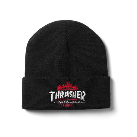 HUF X Thrasher Tour De Stoops Beanie Black