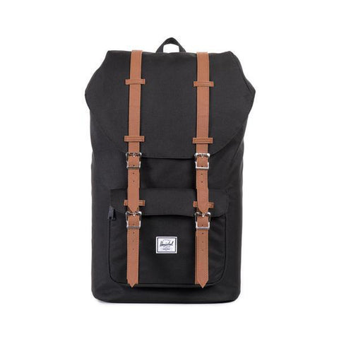 Herschel Supply Co Little America Backpack black tan synthetic leather pure board shop