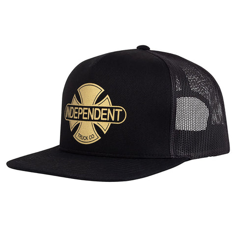 Independent Baseplate Trucker Hat Black Gold Pure Board Shop
