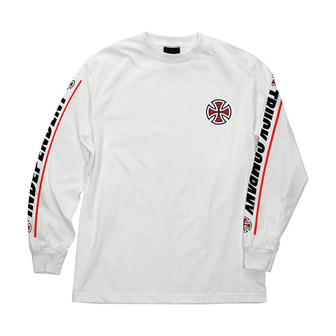 Independent Shear Long Sleeve T Shirt White Pure Board Shop