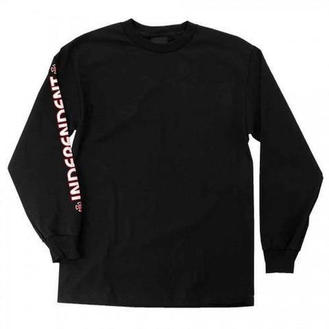 Independent Bar Cross Long Sleeve T-Shirt Black