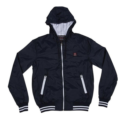 Independent Capital Hooded Windbreaker Jacket Navy - Pure Boardshop
