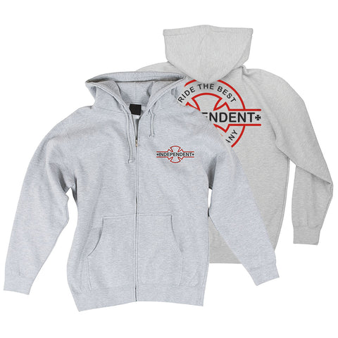 Independent Truck Co Underground Zip Hoodie Heather Grey NHS Holiday 2018 pure board shop