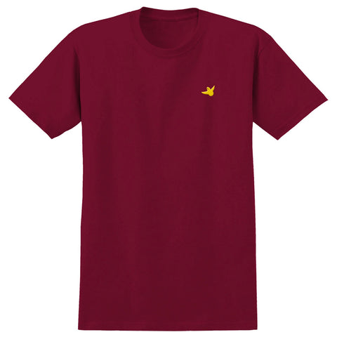 Krooked Embroidered Bird T Shirt Cardinal Deluxe Dist Spring 2020 pure board shop