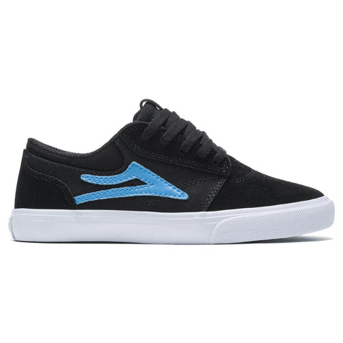Lakai Giffin Kids Skate Shoes Black Cyan Suede KS1210227A00_BKCYS pure board shop