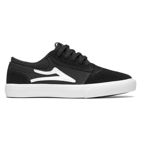 Lakai Griffin Kids Youth Skate Shoes Black Suede pure board shop