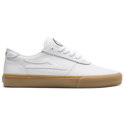Lakai Manchester SMU Griffan Gass Skate Shoes White Leather MS2200200A03_WHLTR pure board shop