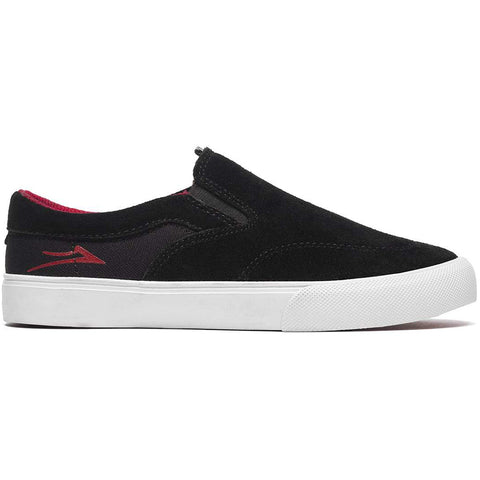 Lakai Owen Kids Slip On Skate Shoes Black Red KS4190232A00_BKRES pure board shop