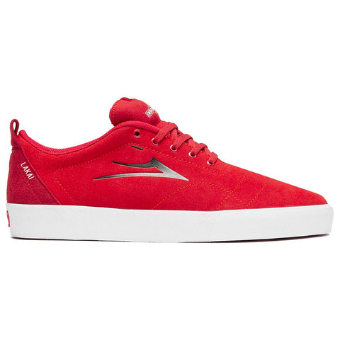 Lakai X Indy Bristol Skate Shoes Red Suede MS3190249A03_REDSD Lakai X Independent Truck Co pure board shop