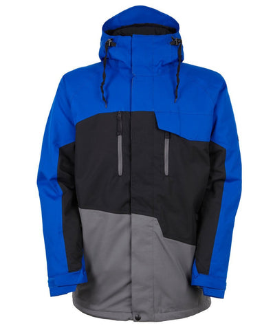 686 Authentic Geo Insulated Men's Snowboard Jacket Cobalt Colorblock 2017 - Pure Boardshop