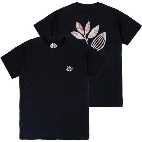 Magenta Plant Map T-Shirt Black Pure Board Shop