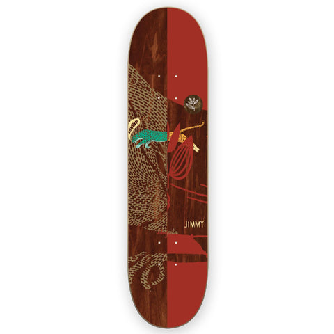 Magenta Jimmy Lannon Leap Skateboard Deck 8.25