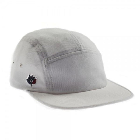 Magenta Plant Cotton Pique 5 Panel Hat off white