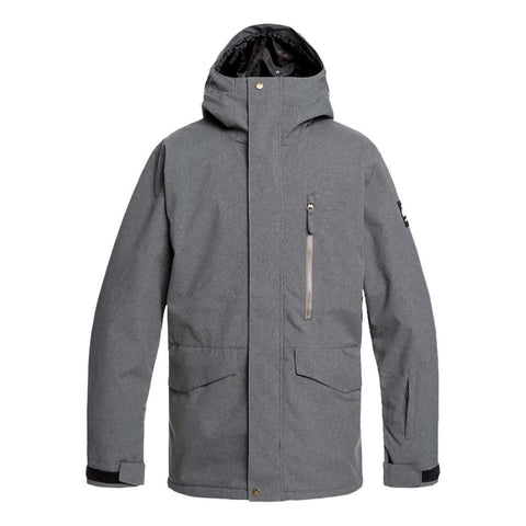 Quiksilver Mission Insulated Snowboard Jacket Black Heather KRPH Pure board Shop