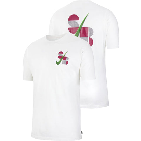 Nike SB BA Swoosh T Shirt White CW1470-100 pure board shop