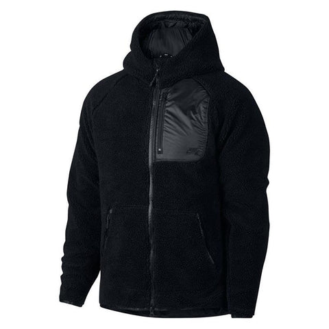 Nike SB Everett Sherpa Fleece Jacket Black/Black/Black pure board shop