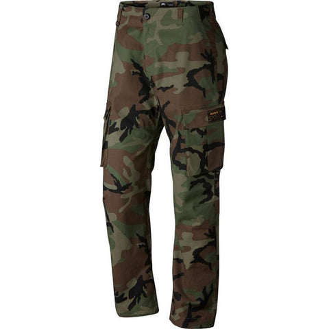 Nike SB Flex FTM Cargo Pants ERDL Medium Olive 885863 222 Camo Cargo Pants pure board shop