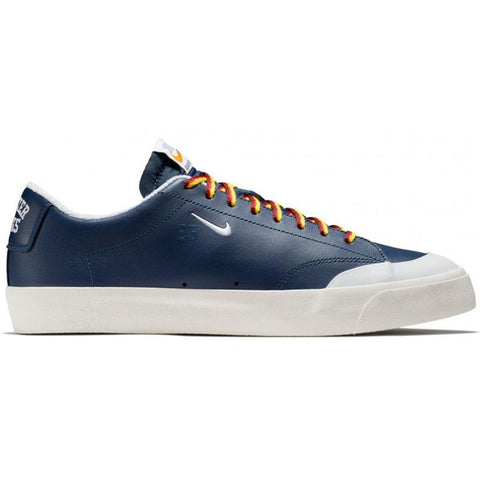 Nike SB X Quartersnacks Zoom Blazer Low XT Quickstrike Skate Shoes Navy White Sail AQ3499 411 pure board shop