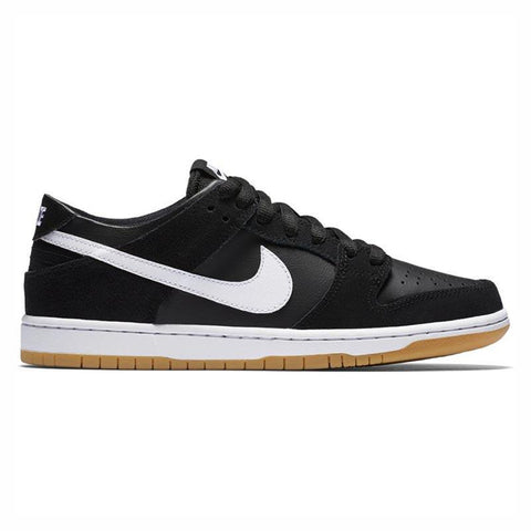 Nike SB Zoom Dunk Low Pro Skate Shoes Black/White-Gum Light Brown 854866-019 pure board shop
