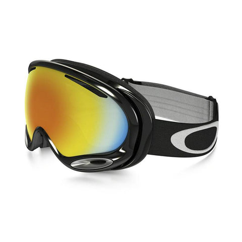 Oakley A-Frame 2.0 Snowboard Goggle 2017 Jet Black with Fire Iridium Lens