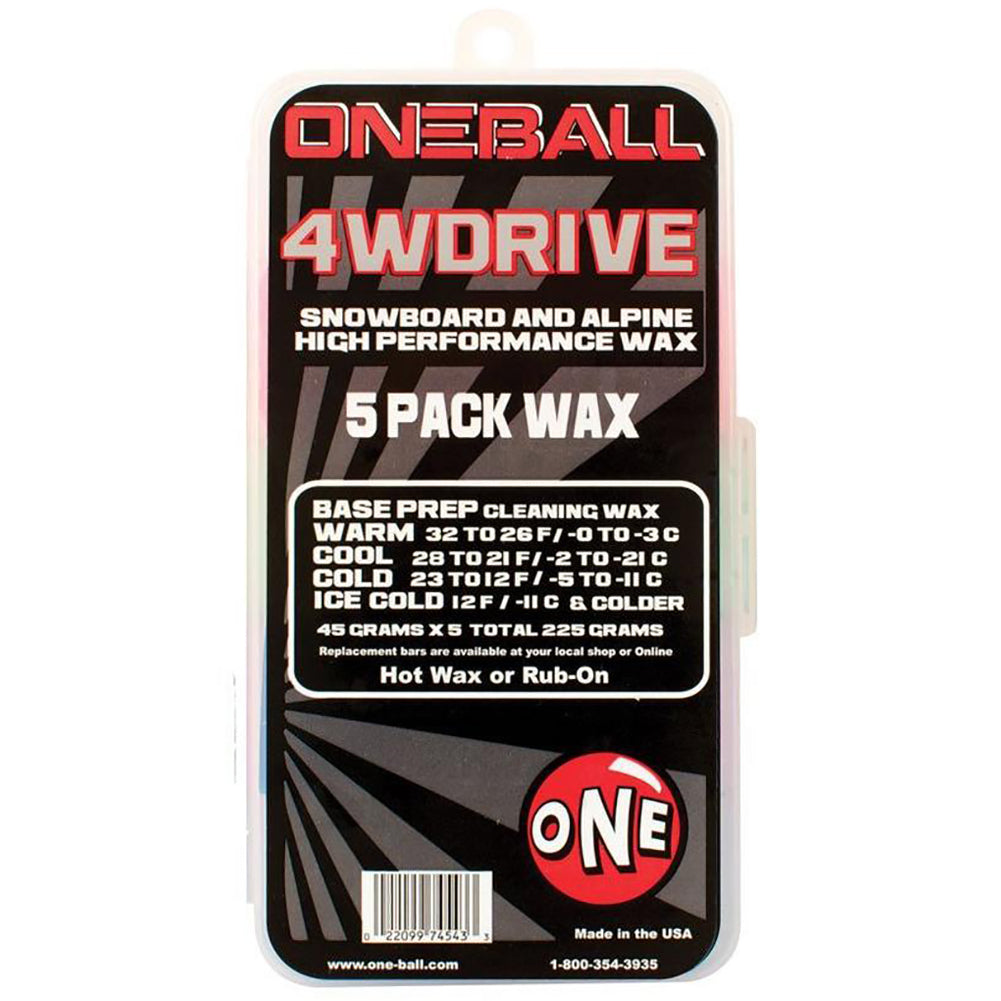 One-Ball 4WD 5 Pack Snow Wax